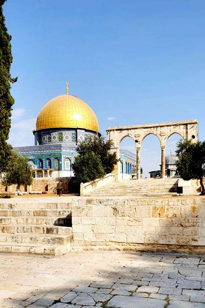 Dome of the Rock and arches on the Temple Mount