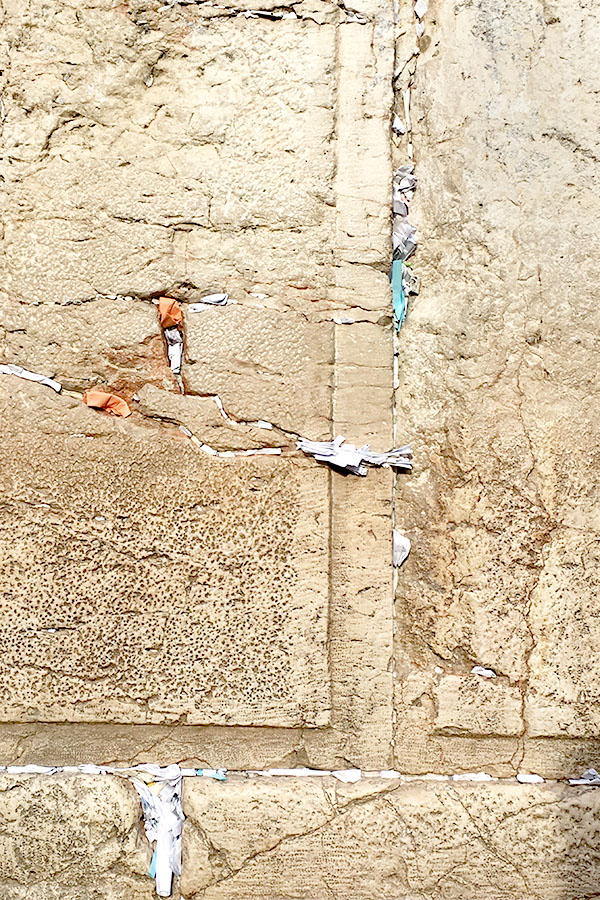 Notes put into cracks in the Western Wall